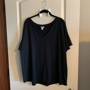 a new day Tops - Black tee flutter sleeves